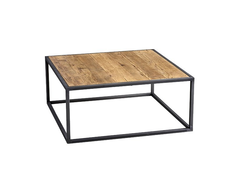 Square pine coffee table DB004444 by Dialma Brown