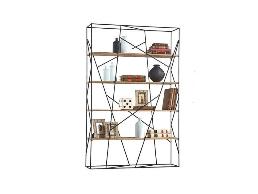 Iron shelving unit DB004455 | Bookcase by Dialma Brown