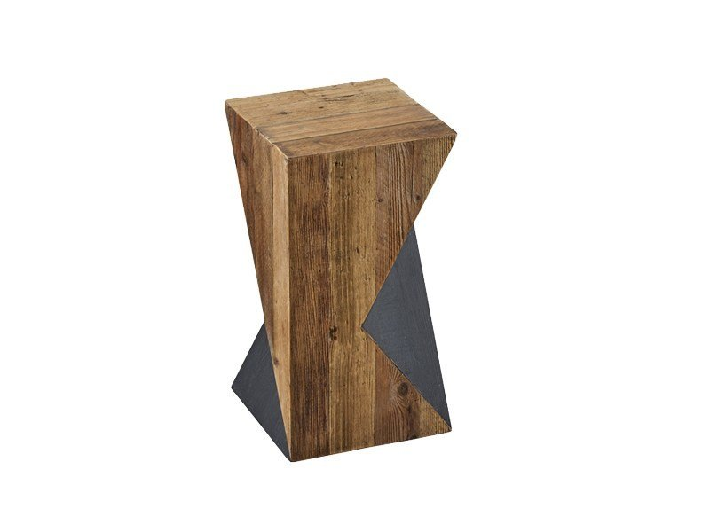Square pine side table DB004457 by Dialma Brown