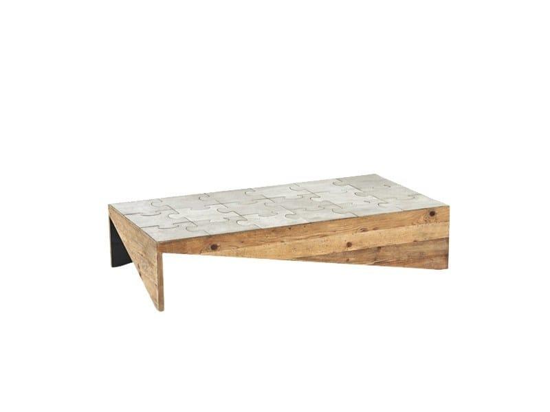 Tavolino da caffè rettangolare DB004504 by Dialma Brown