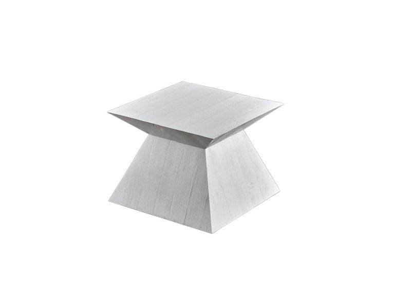 Lacquered square pine side table DB004507 by Dialma Brown