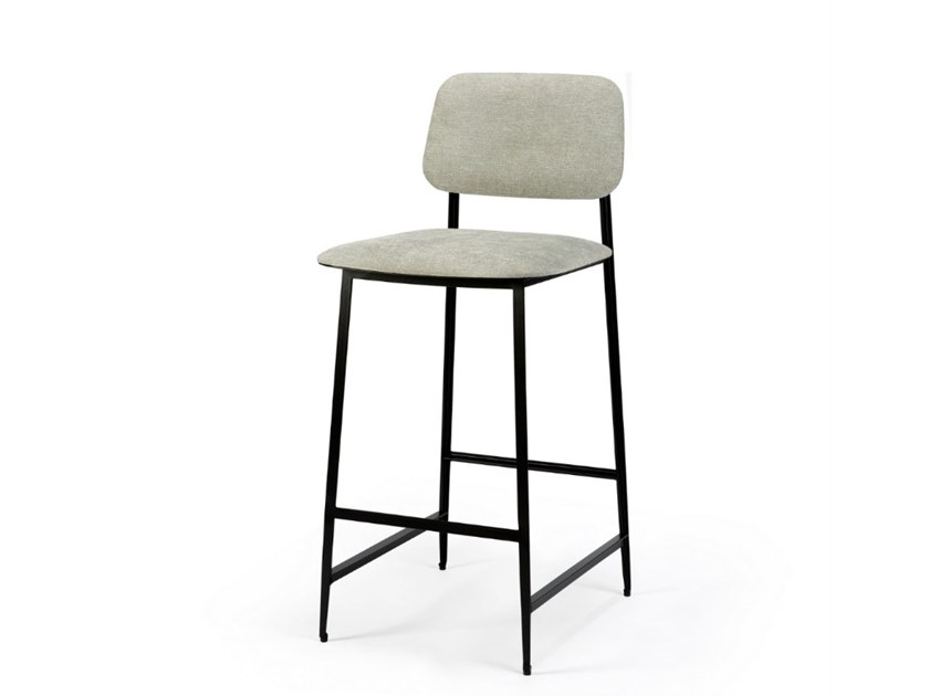 Polyester stool with back DC   Stool with back by Ethnicraft