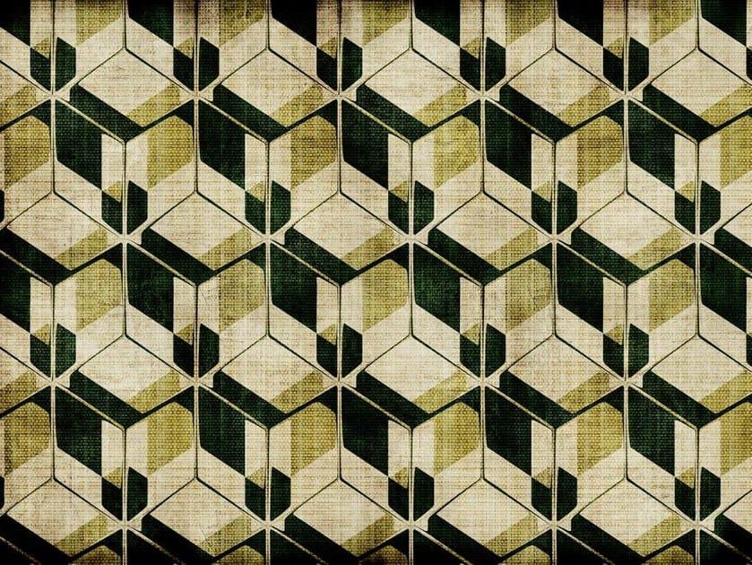 Geometric glass-fibre textile DE-08 by MOMENTI