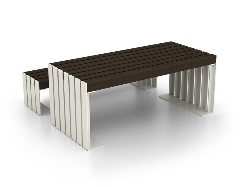 Rectangular steel Table for public areas DEACON | Table for public areas by LAB23 Gibillero Design