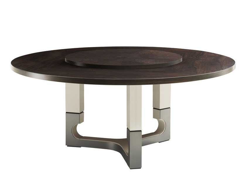 Contemporary style round wooden contract table DEAN by Smania