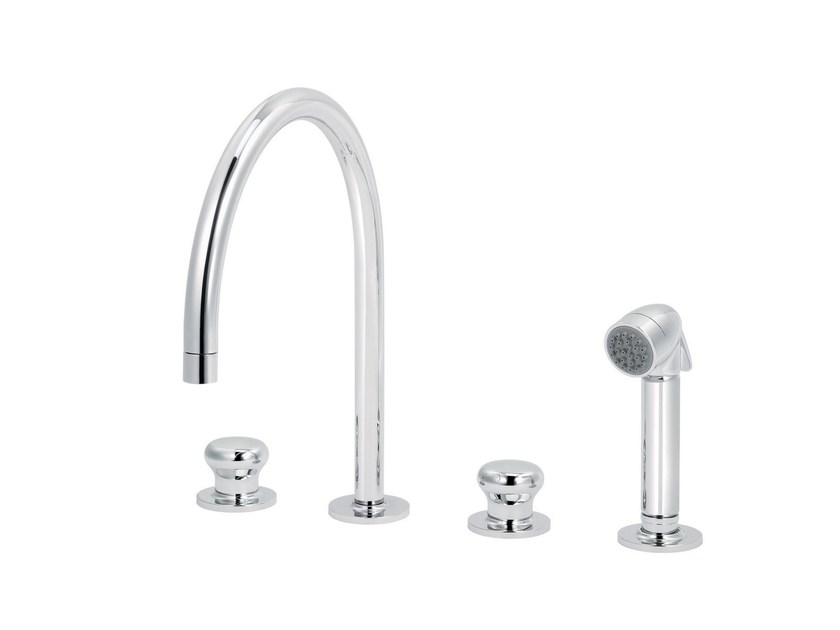 Countertop kitchen mixer tap with pull out spray DEVILLE | Kitchen mixer tap with pull out spray by rvb