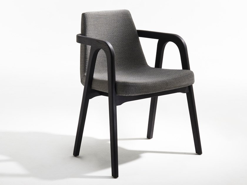 Upholstered fabric armchair with armrests DECANTER | Armchair with armrests by Passoni