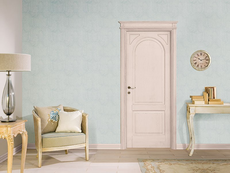 Lacquered solid wood door DECAPATA by LEGNOFORM