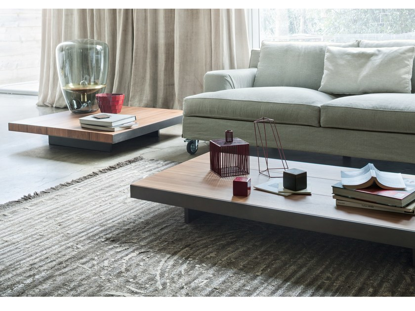 Low solid wood coffee table DECK by Lema