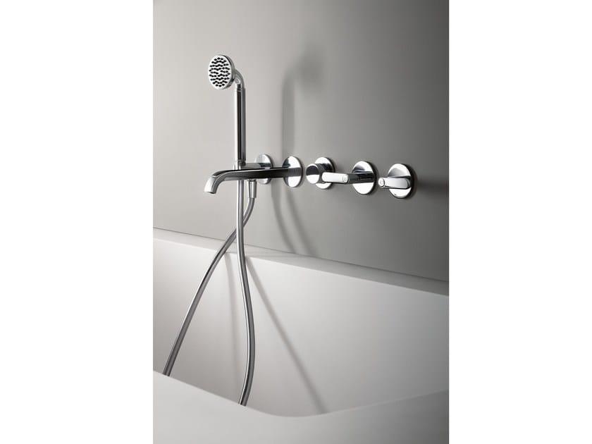 Wall-mounted bathtub set with hand shower DECO ICONA | Bathtub set by Fantini Rubinetti