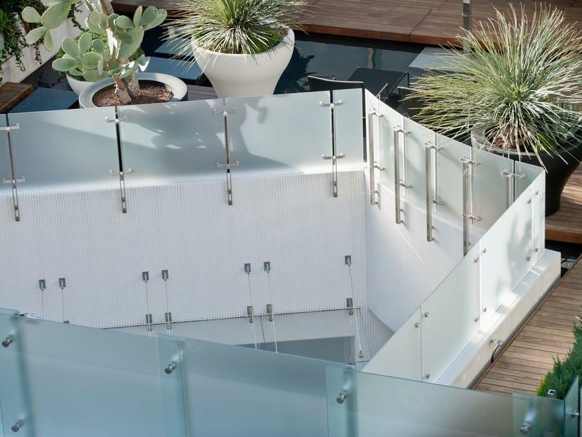 Satin glass balustrade DECORFLOU® BIFLOU by OmniDecor®