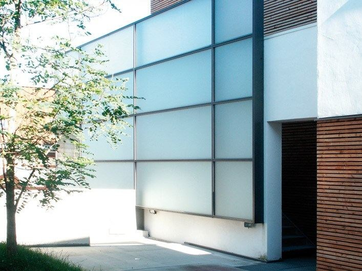 Satin glass Panel for facade DECORFLOU® CLASSIC by OmniDecor®