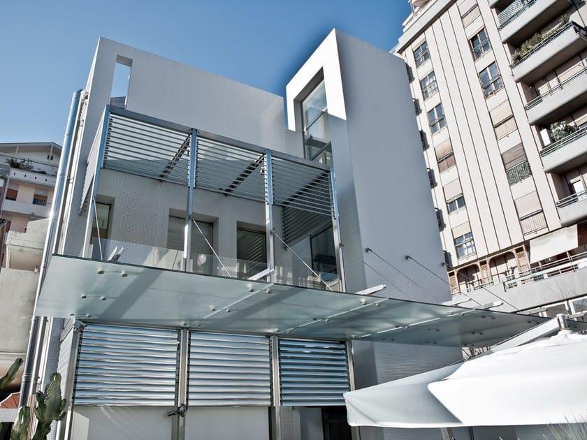 Satin glass door canopy DECORFLOU® CLASSIC by OmniDecor®