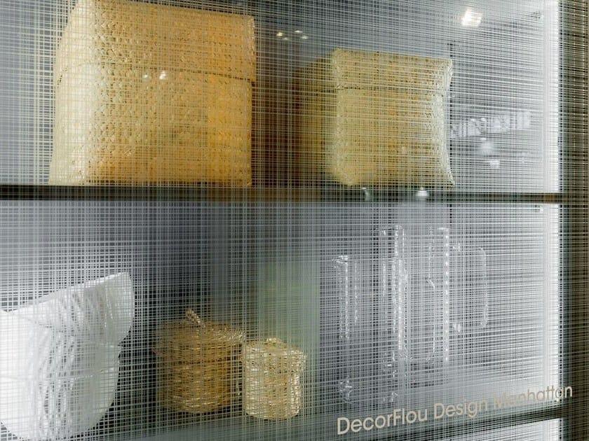 Decorated glass cabinet door DECORFLOU® DESIGN MANHATTAN by OmniDecor®
