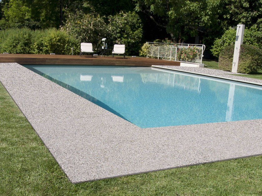 Natural stone continuous and decorative flooring for outdoor DECORSTONE by Bernardelli Group