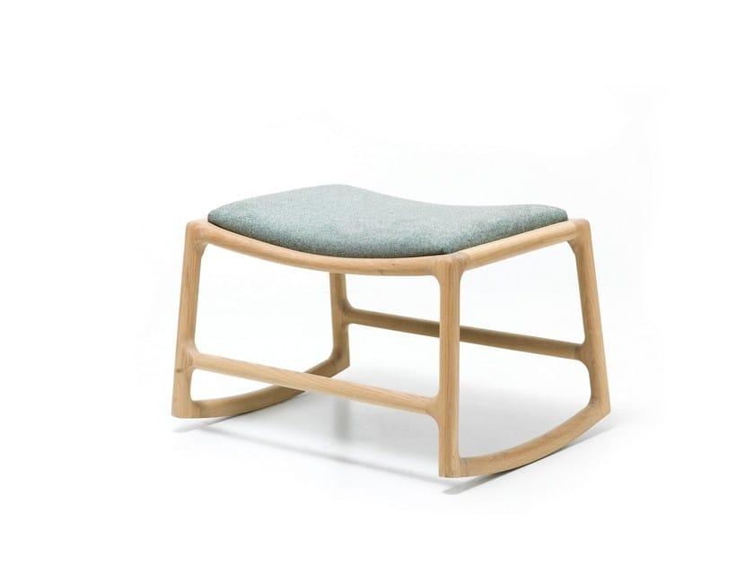 Sled base fabric footstool DEDO | Fabric footstool by Gazzda