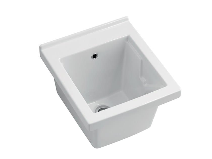 Lavello a una vasca in ceramica DEEP by BLEU PROVENCE