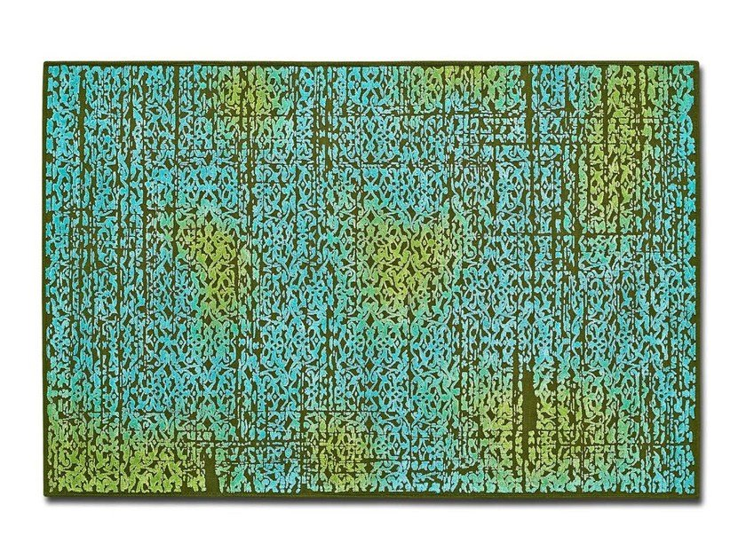 Rectangular wool rug DEEP FOREST by OT Oliver Treutlein