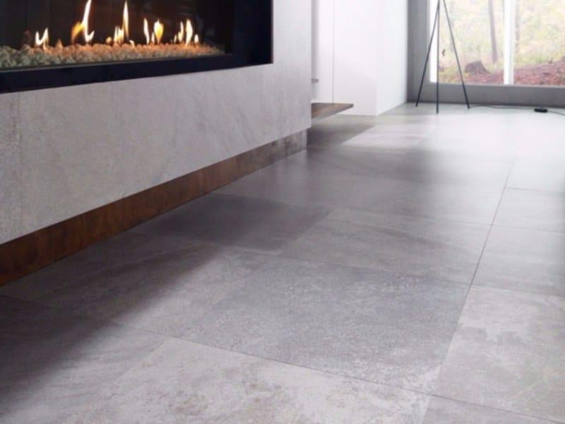Porcelain stoneware wall/floor tiles with stone effect DEEP LIGHT GREY by URBATEK