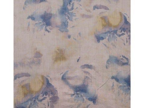 Tessuto con motivi floreali per tende DEEP OCEAN by Aldeco