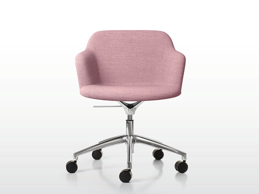 Swivel upholstered chair with 5-spoke base DEEP PLASTIC | Upholstered chair by Quinti Sedute