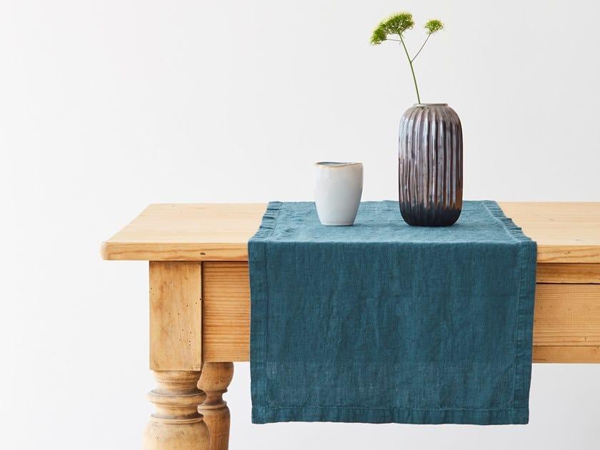 Linen Table runner DEEP WATER   Table runner by Linen Tales