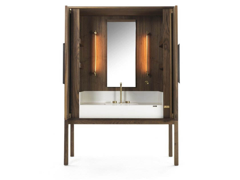 Mobile lavabo in noce DEKAURI | Mobile lavabo in noce by Riva 1920