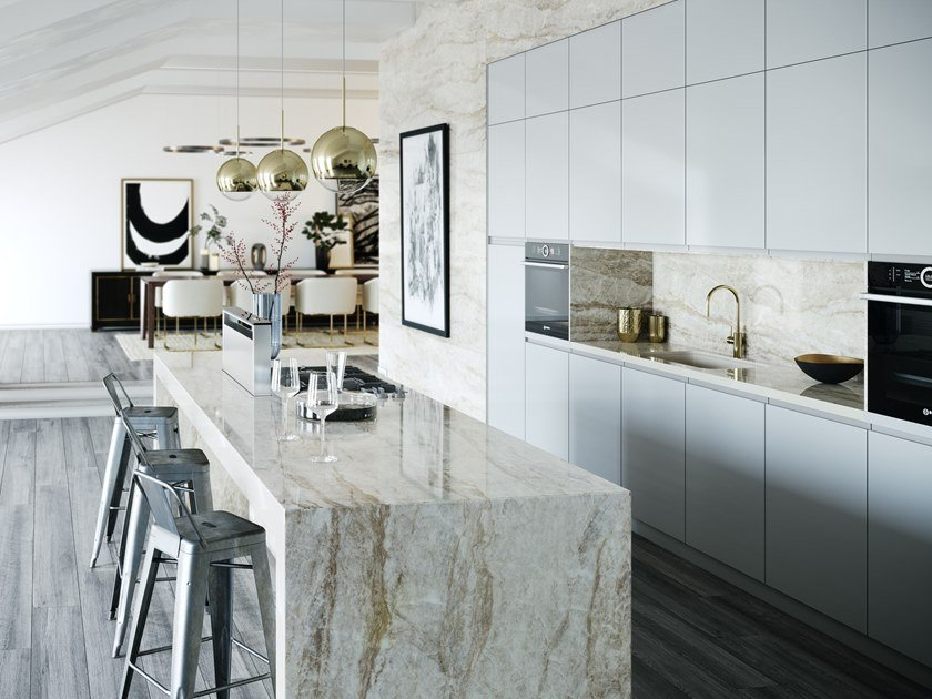 Furniture foil with marble effect DEKTON® ARGA by Cosentino