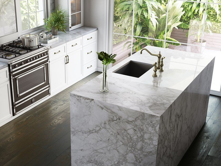 Furniture foil with marble effect DEKTON® BERGEN by Cosentino