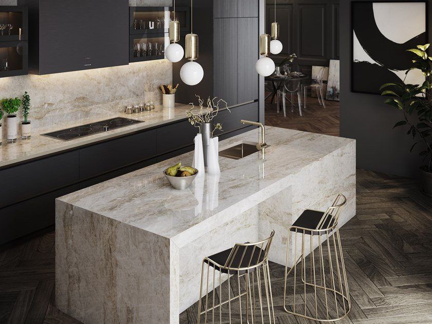 Furniture foil with stone effect DEKTON® TAGA by Cosentino