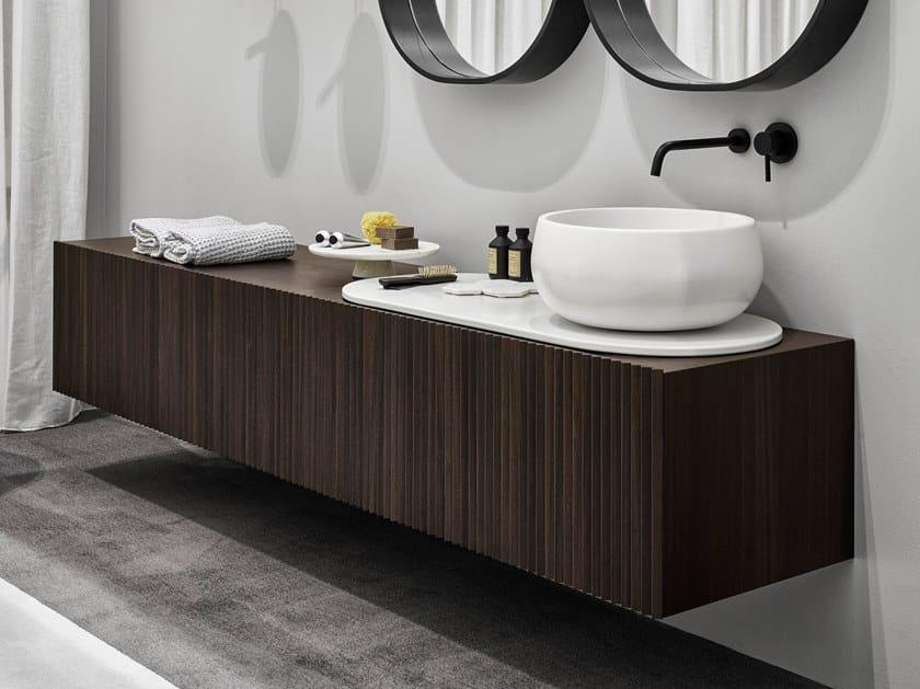 Single wall-mounted vanity unit DELFO by Ceramica Cielo