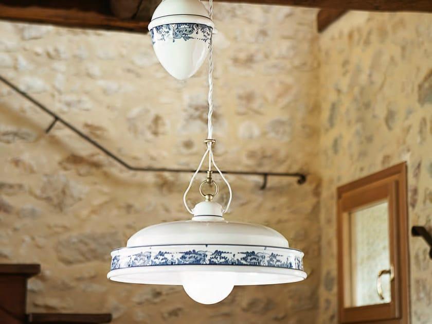 Ceramic pendant lamp delft pendant lamp by aldo bernardi