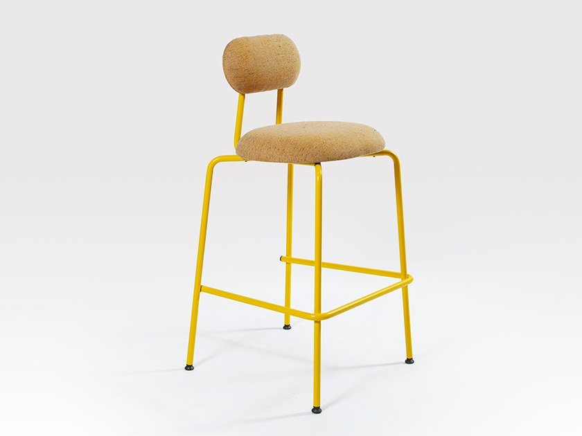 Upholstered barstool with footrest DELORES | Barstool by Liqui Contracts