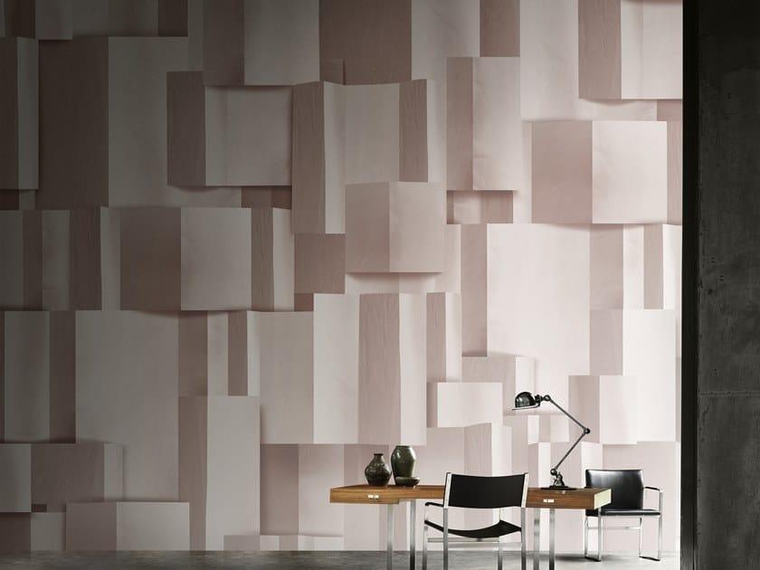 Carta da parati geometrica optical panoramica in fibra di vetro EQ Dekor in stile moderno DELPHOS by Inkiostro Bianco