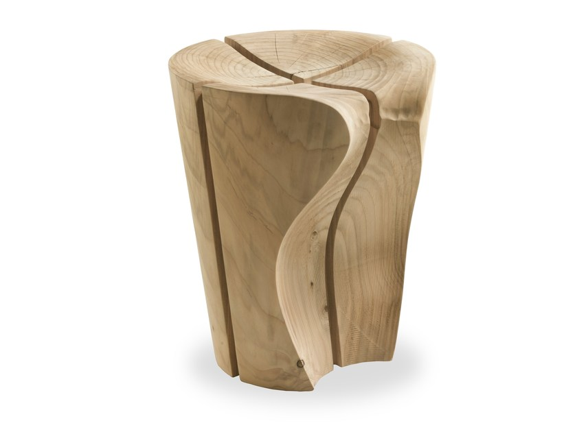 Cedarwood stool DELTA by Riva 1920