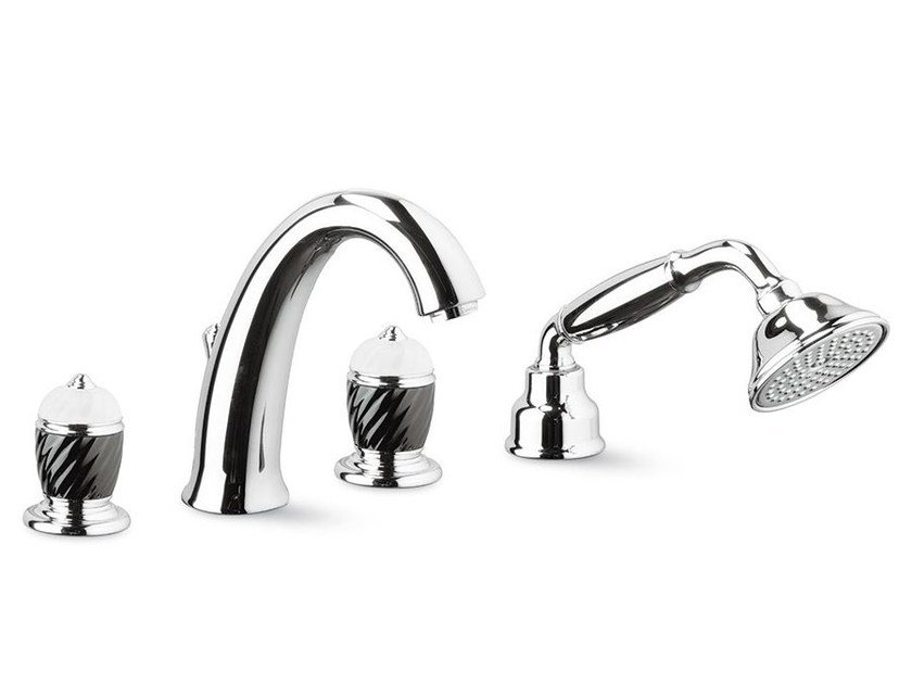 Classic style 4 hole bathtub set with hand shower DELUXE | 4 hole bathtub tap by newform