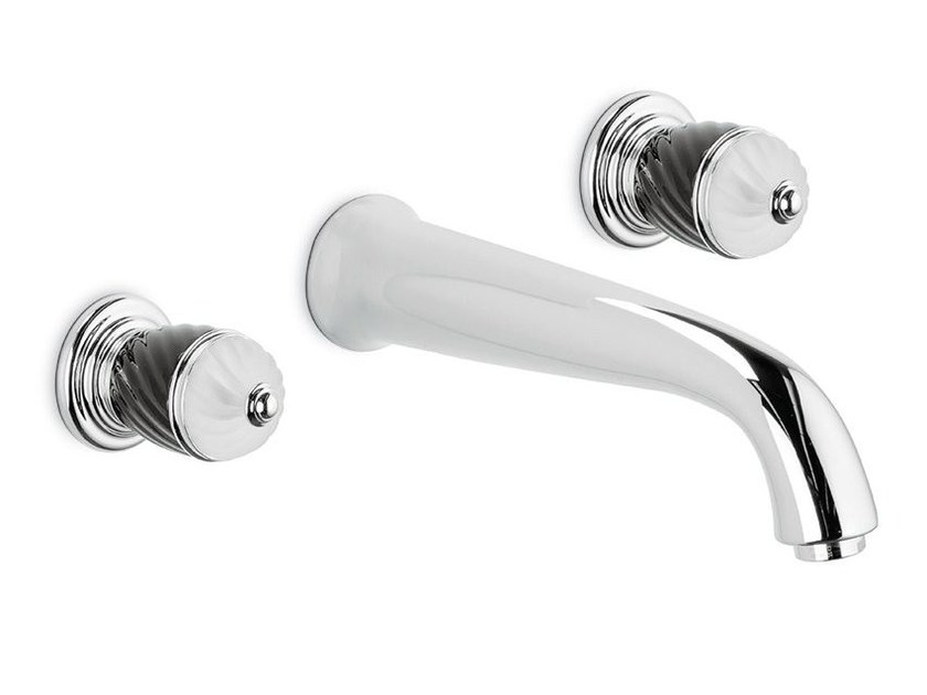 3 hole wall-mounted washbasin tap DELUXE | Wall-mounted washbasin tap by newform