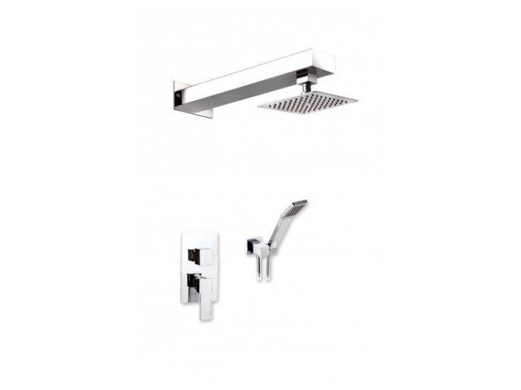 Wall-mounted stainless steel overhead shower with arm DEMETRA by Ama Luxury Shower