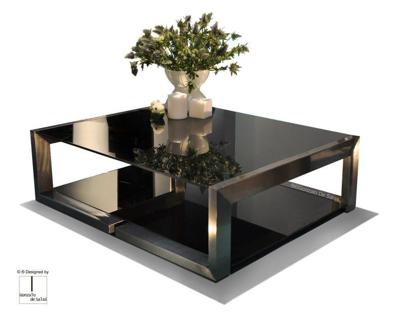 Glass coffee table DEMI by Gonzalo De Salas