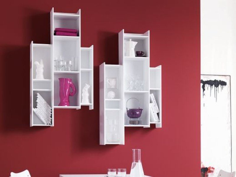 Floating MDF bookcase DEMIE | MDF bookcase by Ozzio Italia