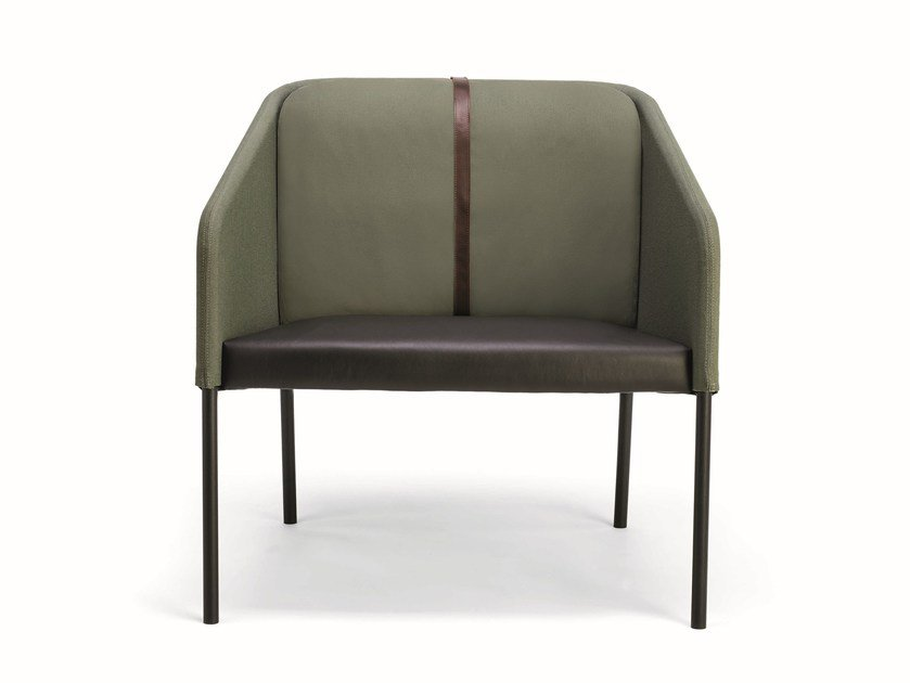 Leather armchair with armrests DEMOISELLE | Leather armchair by Infiniti