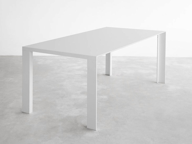 Lacquered rectangular MDF table DENEB | Lacquered table by STUA