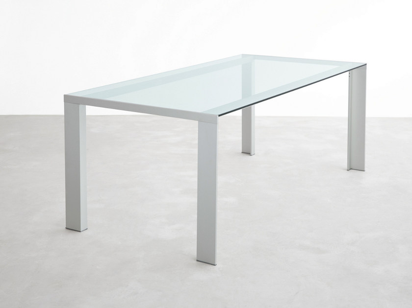Rectangular glass table DENEB | Glass table by STUA