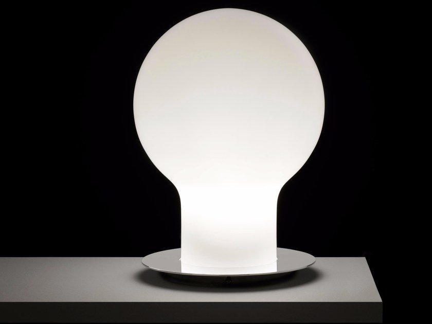 Blown glass table lamp DENQ - 229 by Oluce