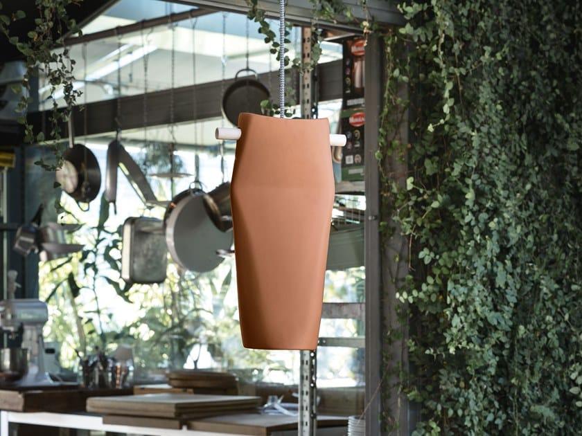Ceramic pendant lamp DENT by Miniforms