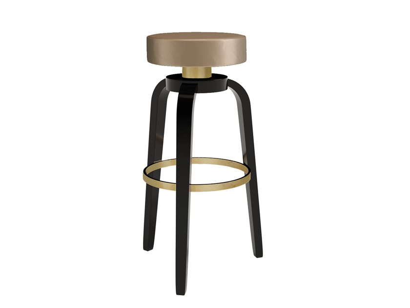 Wooden barstool with footrest DENVER by Jetclass