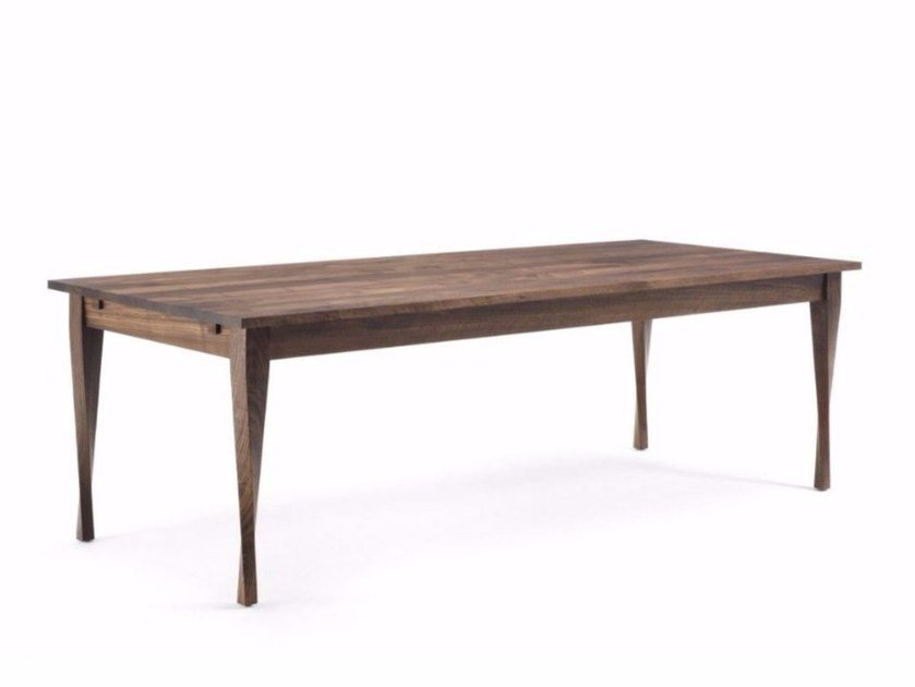 Rectangular Solid Wood Table Denver Too By Riva 1920