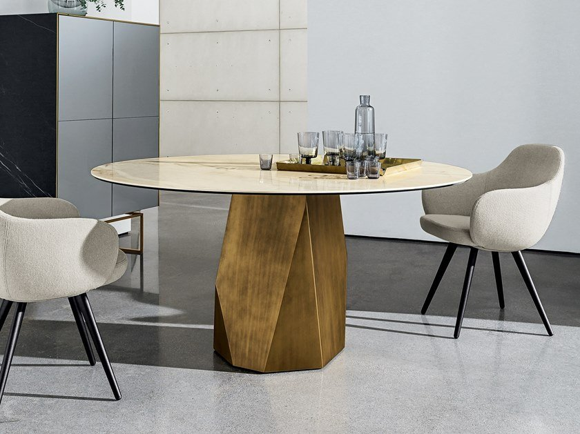 Round ceramic table DEOD | Ceramic table by Sovet italia