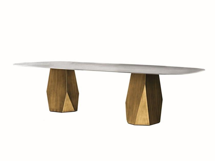 Rectangular tempered glass table DEOD | Rectangular table by Sovet italia