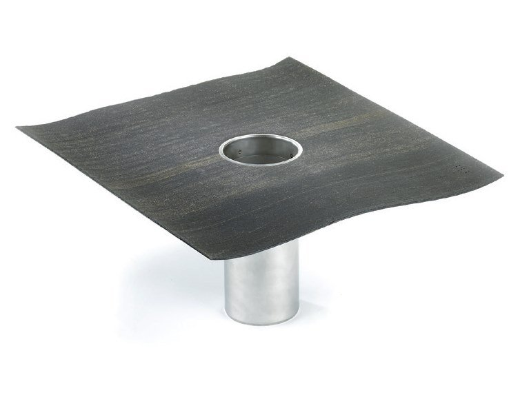 Stainless steel Drainage channel and part DERBIDRAIN V by Derbigum